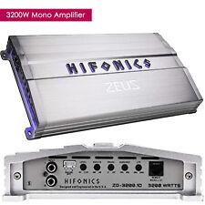Hifonics Zeus ZG-3200.1D 3200W Mono Subwoofer Class D Car Audio Amplifier Amp