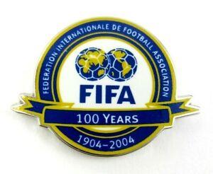 FIFA 100 Years  Football Soccer 1904-2004 Official Pin Badge  Rare