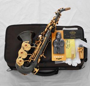 Professional TaiShan new Curved Soprano Saxophone High F# Black nickel Gold sax
