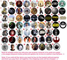Chapa Button Badge Custom Pins Star Wars Han Solo Darth Vader C3PO R2D2 Yoda