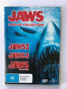 Jaws 2 + Jaws 3 + Jaws 4 The Revenge DVD 3-MOVIE COLLECTION R4