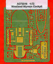 Airwaves 1/72 Westland Wyvern Cockpit etch for Frog kit # AEC72216