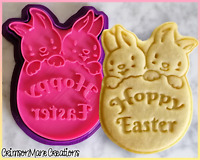 Hoppy Easter Cookie Cutter Easter Egg Bunny Cute Biscuit Baking Ceramics Pottery