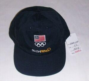 New TEAM USA OLYMPICS NAVY BASEBALL CAP O/S mens SIXTH RING ADJUSTABLE U.S. HAT