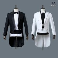 Renaissance Mens Tuxedo Suit Wedding Party Jacket Pants Full Set Cosplay Costume