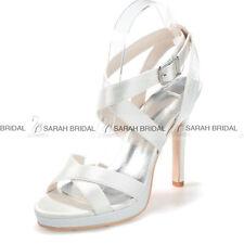 Damen Sandaletten Blumen High Heels Brautschuhe Hochzeit Pumps 35 36 37 38 39 40