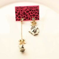 New Betsey Johnson Tea Kits Drop Dangle Earrings Gift Fashion Lady Party Jewelry