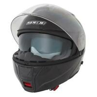 Spada Cyclone Gloss Black Flip Front DVS Motorcycle Motorbike Helmet New