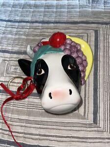 Vandor Cow With fruit 1987 Pelzman Designs