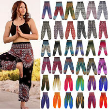 Women' Yoga Pants Baggy Hippie Harem Thai Beach Horemion Genie Palazzo Trousers
