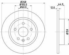 MINTEX MDC2132 BRAKE DISC Rear
