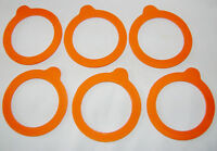NEW 6 SMALL REPLACEMENT SEALS RINGS FOR 0.125 LITRE CLIP TOP JARS KILNER 500