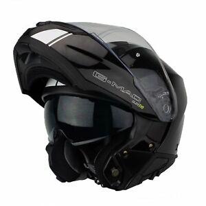 G-Mac Glide Evo Modular DVS Flip Up Front Motorcycle Helmet Black/White > 2XL