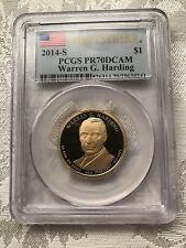 2014-S Warren G. Harding Presidential Dollar PCGS PR70DCAM First Strike