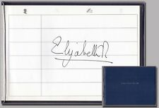 Elizabeth II., Queen (1926) – In Person signature in a Visitors Book