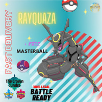 POKEMON SWORD & SHIELD CROWN TUNDRA DLC SHINY RAYQUAZA + MasterBall TRADING NOW