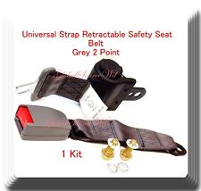 (1 Kit ) Universal Strap Retractable Car Safety Seat Belt Grey 2 Point