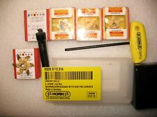 NEW PH HORN M328.ST12.01A GROOVE CARBIDE MILLING HOLDER +4 CARBIDE HEADS (1.5MM)