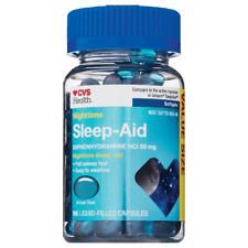 CVS Health Nighttime Sleep Aid Diphenydramine HCl Liquid Filled Capsules 50 mg