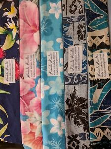 SALE Hawaiian Print Neck Cooling Scarf Locally Made in Hawaii Water Crystal
