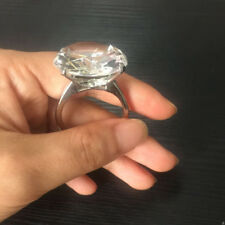 Faux Diamond Ring Keychain Keyring KEY RING Chain Engagement Wedding Gift