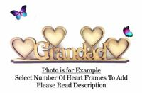 GRANDAD Build Your Own Wooden MDF Photo Frame, Fathers Day Gift PL54 - OPTIONS