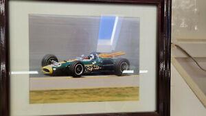 Indy 500 Eight Vintage Photographs - Jim Clark & Dan Gurney mid-60's