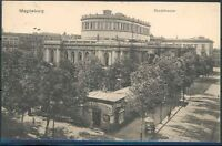 GERMANY PPC MAGDEBURG THEATER 12/27/1913 TO BERLIN GERMANY