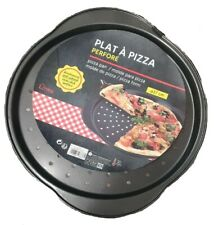 2 x PIZZA PAN TRAY GREY MARBLE COATED  NON STICK SIZE 37cm