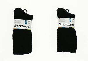 Smartwool 250538 Womens Basic Knee-High Socks Set Of 2 Black Size Medium