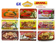 6X ASANTEE Herbal Soap 125g Papaya Rice Goat Milk Tamarind Beauty Skin Whitening