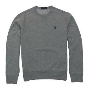 Polo Ralph Lauren Mens Crew-neck Jumper Sweatshirt Grey Fleece M BNWT