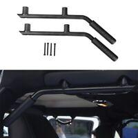 Black Solid Steel Rear Grab Handles Grab Bar for Jeep Wrangler 2007-2018 4 Dr JK