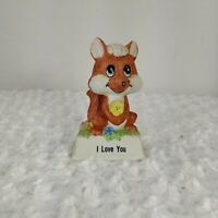 VINTAGE I LOVE YOU FOX PORCELAIN FIGURINE 1979 RUSS BERRIE COLLECTION #813