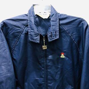 Burning Tree Golf Club Windbreaker Jacket West Wind Sz Small Navy Blue Full Zip
