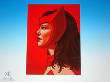 Scarlet Witch Mondo Mike Mitchell Portrait Print Marvel Comics X-Men Rare Proof