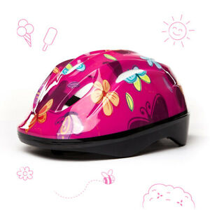 3StyleScooters® Cycle Helmet - Kids Pink Butterfly Safety Helmet - Ages 5 to 8