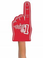 We're Number #1 Finger Team Color Cheerleading Foam Hand (Red)