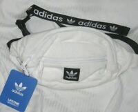 Adidas Fanny Pack Pak Waist Bag Adjustable Waist 2 ZIP Trefoil White Vintage NEW