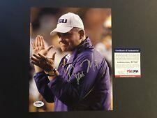 Les Miles Hot! signed Autographed LSU Tigers 8x10 Photo PSA/DNA Cert