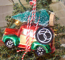 Woody Station Wagon Christmas Glass Ornament (Dept. 56 by Enesco, 4046880)