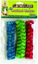Ware Braided Chews For Small Animals Large/3 Piece Multicolored