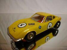 GAMA SLOT CAR -  OPEL GT #4 - YELLOW 1:32 L14.5cm RARE - FAIR CONDITION