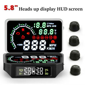 "5.8"" Car HUD Display Windshield Projector Car Speed & Diagnostic Monitor System"