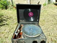Vintage Retro Record Player turn table gramophone Murdoch's in its wooden box