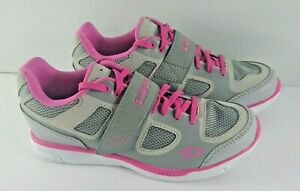Women's Giro Whynd Cycling Shoes Pink Gray Size 7.5 Indoor Outdoor Dual Sport