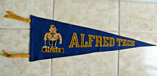 Vintage Alfred Tech Pennant w/Alfred Mascot Logo