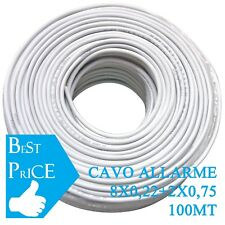 CAVO ALLARME ANTIFURTO SCHERMATO 8X0.22 + 2X.075 BOX MATASSA 100 MT 10 FILI CCA