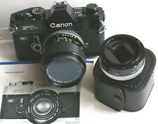 CANON FTb, rare, neuf, Laqué noir, objectif FD macro SSC 3,5 /50mm + bague FD 25