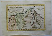 South America Colombia Venzuela coast Curacao European Colonies 1754 Bellin map